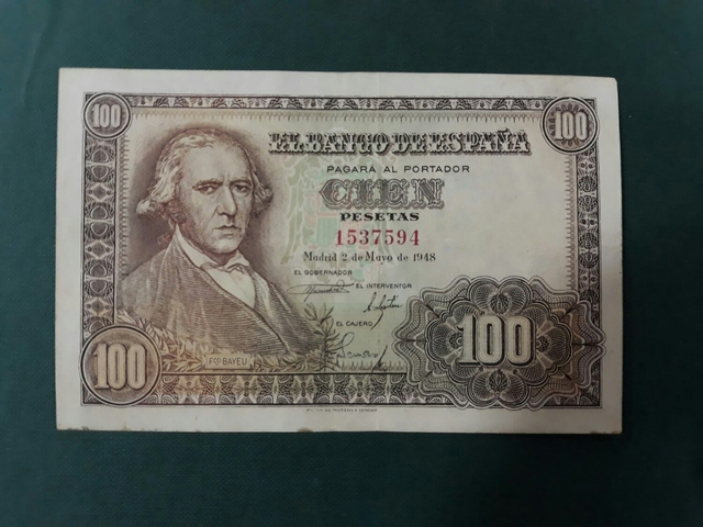 Billete 100 Pesetas 1948.