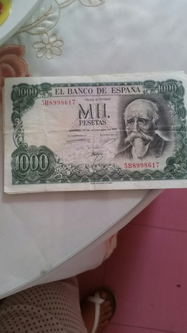 3 Billete De 1000 Pesetas 1971