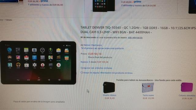 9679314b9a2 MIL ANUNCIOS.COM - Tablet denver Segunda mano y anuncios clasificados
