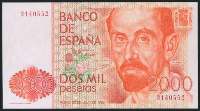 Billete 2000 Pesetas Año 1980.Sin Serie.