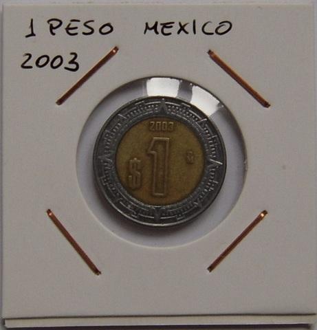 1 Peso Mexico 2003