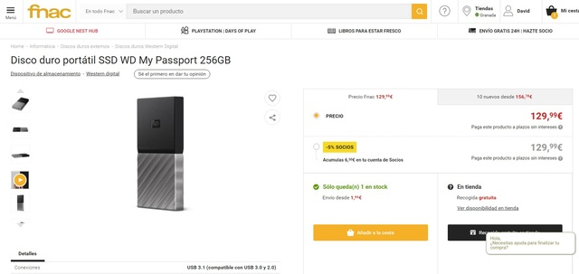 DISCO DURO SSD 256GB M2 EXTERNO NUEVO*  - foto 4