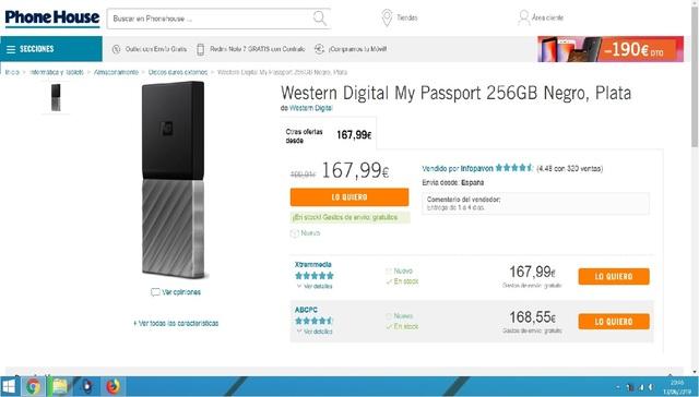 DISCO DURO SSD 256GB M2 EXTERNO NUEVO*  - foto 5