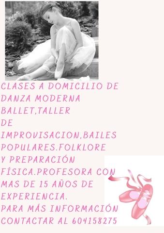 PROFESORA DE BAILES ONLINE Y A DOMICILIO - foto 1