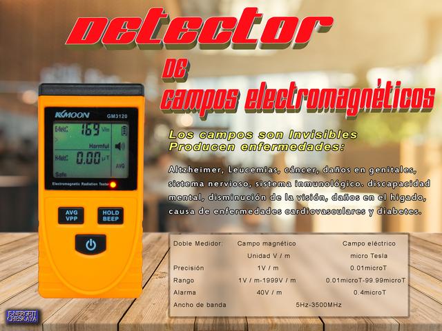 Detector-Medidor De Campos Magnéticos