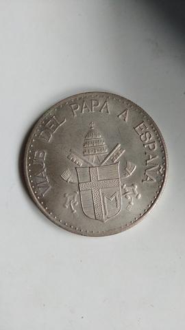 Moneda De Plata Viaje Del Papa A España