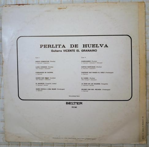 PERLITA DE HUELVA.  LP.  - foto 2