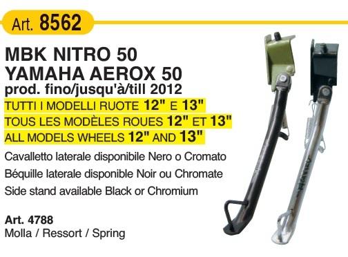 MBK Nitro de 2012 Caballete Lateral Cromado para Yamaha Aerox