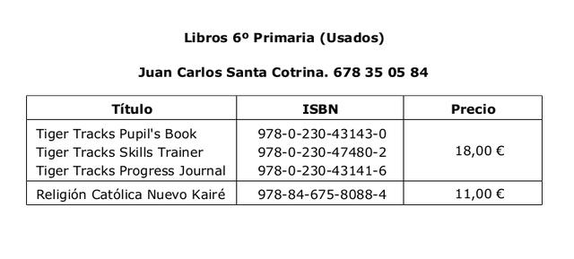 LIBROS 6º PRIMARIA BUEN ESTADO - foto 1