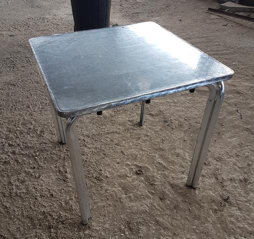 4 Sillas 1 Mesa Terraza Aluminio Mimbre