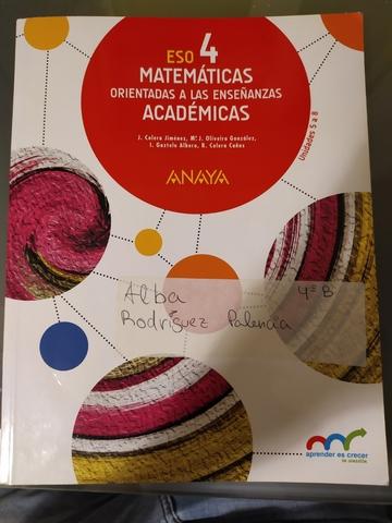 Mil Anuncios Com Libro Matemáticas Académicas 4 Eso Anaya