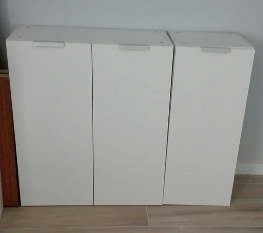 2 Módulos Altos Cocina Ikea Blanco Mate