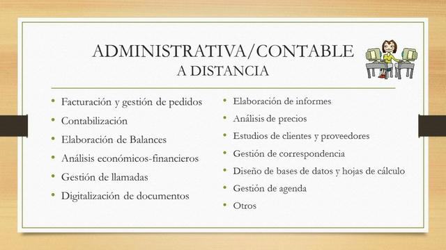 ADMINISTRATIVA/CONTABLE A DISTANCIA - foto 1