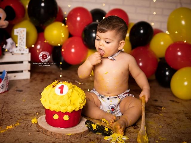 FOTOS DE SMASH CAKE CUMPLEAÑOS BEBE - foto 5