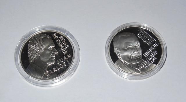 2 Monedas Plata 20 Euro Rey Juan Carlos