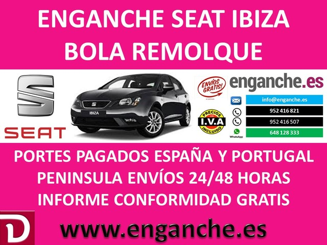 Bola Remolque Fija para SEAT IBIZA 96-02 Kit 13p