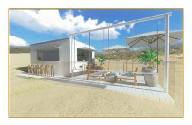 Kiosco Casa De Madera Terraza 15 30m2