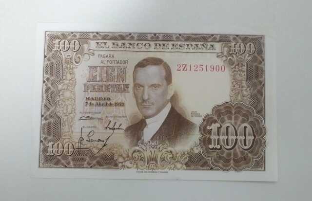 Billete 100 Pesetas 1953 Julio Romero Sc