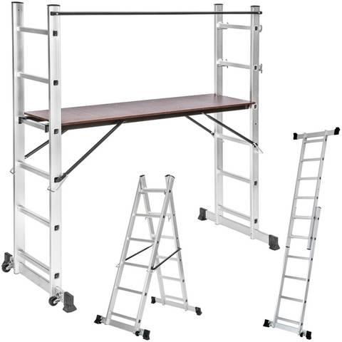 -Escalera De Aluminio Multiusos