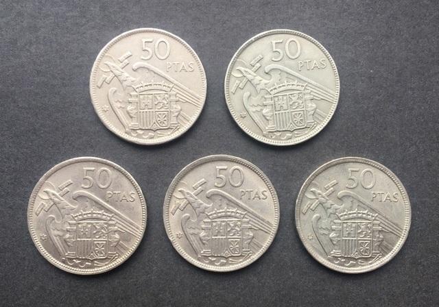 Serie Completa 50 Pesetas 1957 Franco
