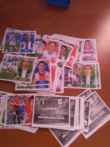 Lote 102 Cromos Liga Este 2008/2009