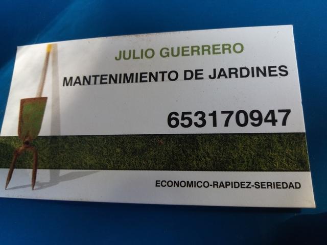 MANTENIMIENTO DE JARDINES JULIO GUERRERO - foto 1