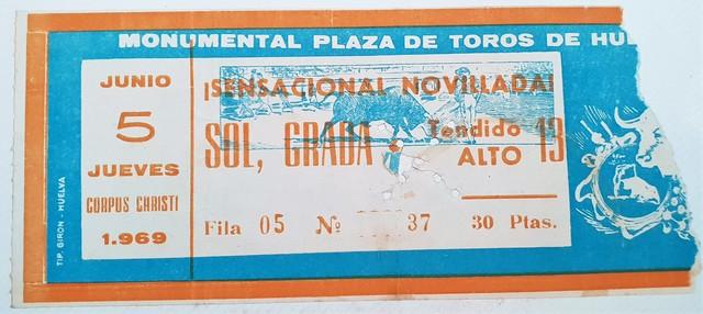 ENTRADA TOROS - PLAZA DE TOROS DE HUELVA - foto 1