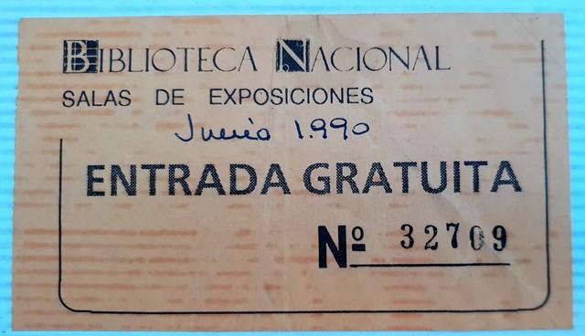 ENTRADA BIBLIOTECA NACIONAL AÑO 1990 - foto 1