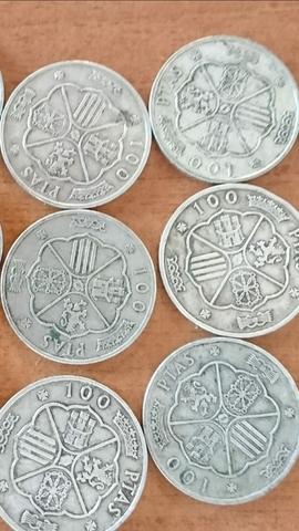 Monedas De Plata 100 Pesetas