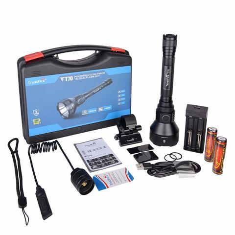 aguardos con accesorios Garant/ía Trustfire original monter/ías Rango 1000-2000 metros especial caza Kit Linterna profesional original Trustfire X6-1 Led SST-90 Kit N/º1 - Linterna sola