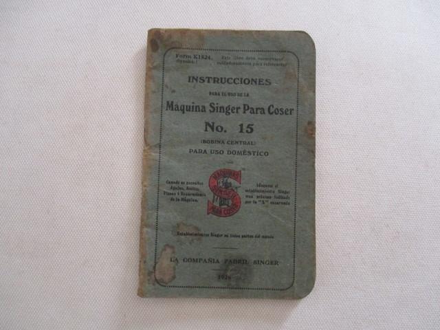 INSTRUCCIONES MAQUINA COSER SINGER, 1928.  - foto 1