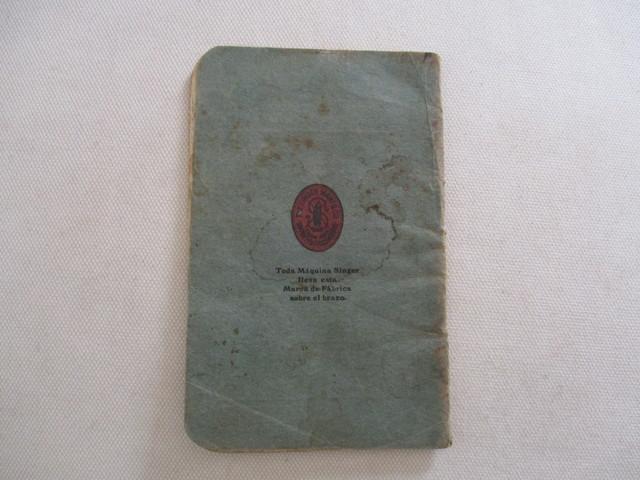 INSTRUCCIONES MAQUINA COSER SINGER, 1928.  - foto 2
