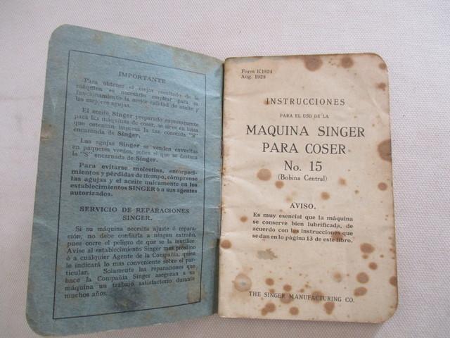 INSTRUCCIONES MAQUINA COSER SINGER, 1928.  - foto 3
