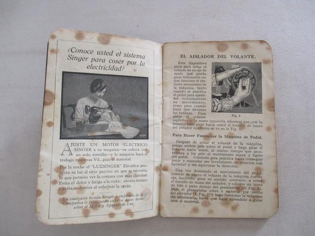 INSTRUCCIONES MAQUINA COSER SINGER, 1928.  - foto 4