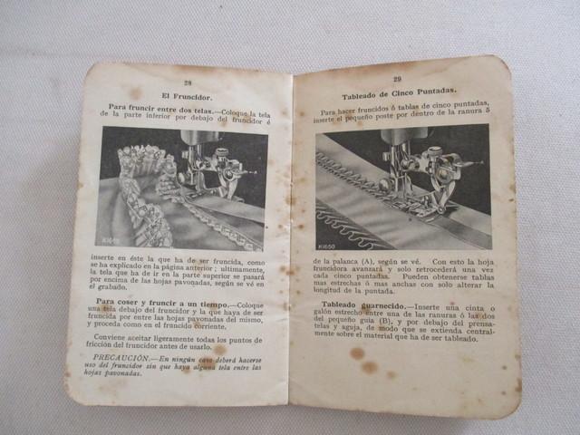 INSTRUCCIONES MAQUINA COSER SINGER, 1928.  - foto 7