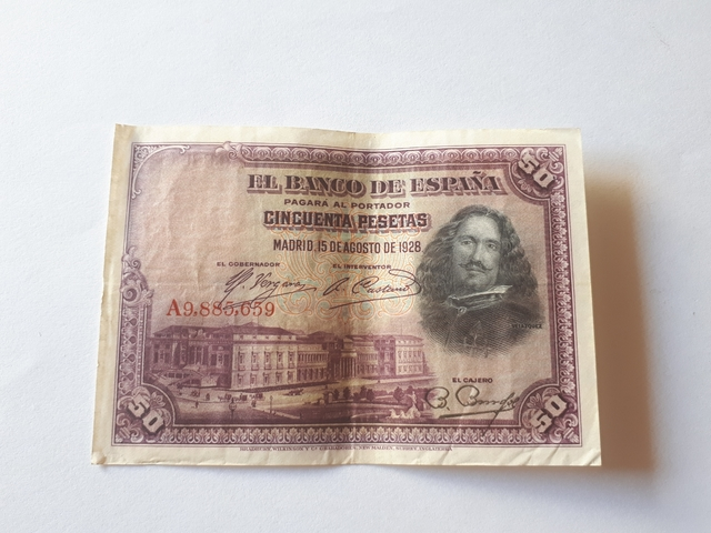 50 Pesetas 1928