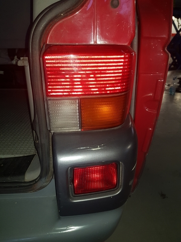 VW t4 Transporter furgoneta recuadro reparación chapa guardabarros delantero izquierdo atrás 90-03