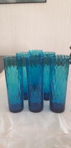 Leonardo vino blanco vidrio claro Burano azul