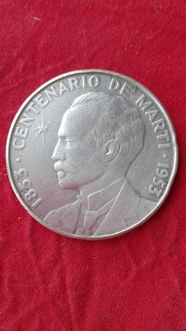 Moneda Plata.Centenario José Martí.1953