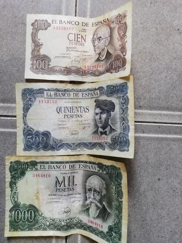 LOTE DE 3 BILLETES DE PESETAS AÑOS 70 - foto 3