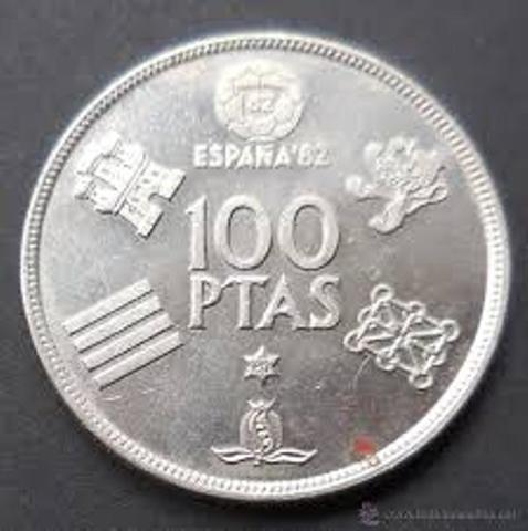 Moneda 100 Pts Mundial 82. Estrella 80