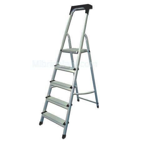 Escalera Aluminio 5 Peldaños + Bandeja A
