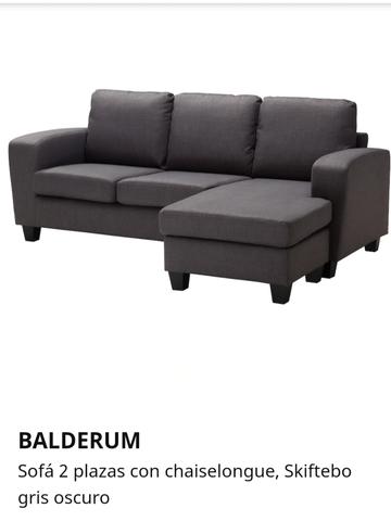 Sofa Chaise Longue Ikea.Sofa Balderum Ikea Seminuevo