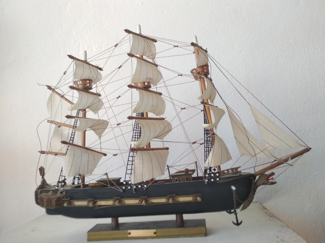 Maqueta De Barco Fragata Española