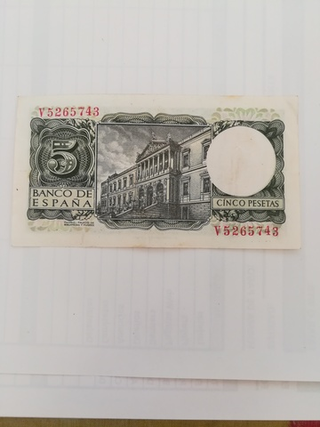 Billete Cinco Pesetas