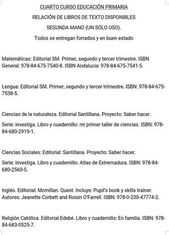 CUARTO CURSO EDUCACIÓN PRIMARIA