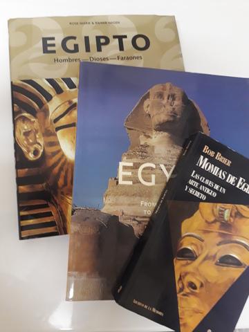 3X Libro Momias Antiguo Egipto Lote