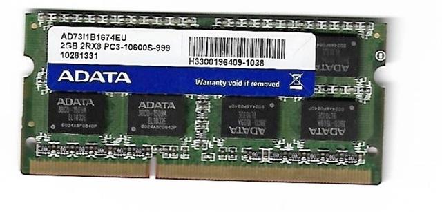 RAM PORTATIL 2GB 2RX8 PC3-10600S-999 - foto 2