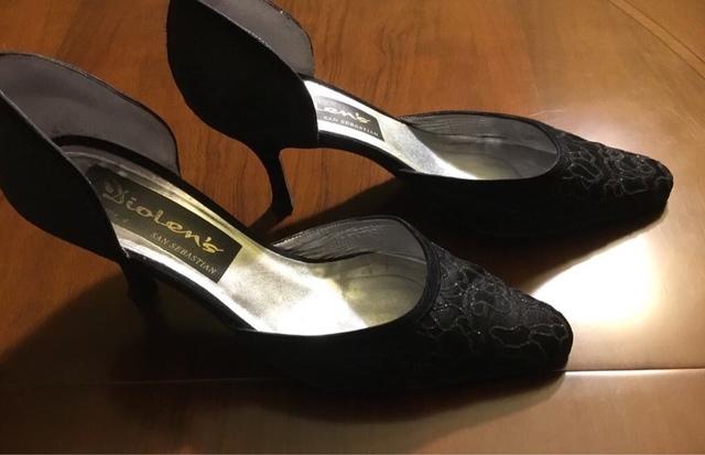 Zapatos Zara negros de vestir planos40 de segunda mano por