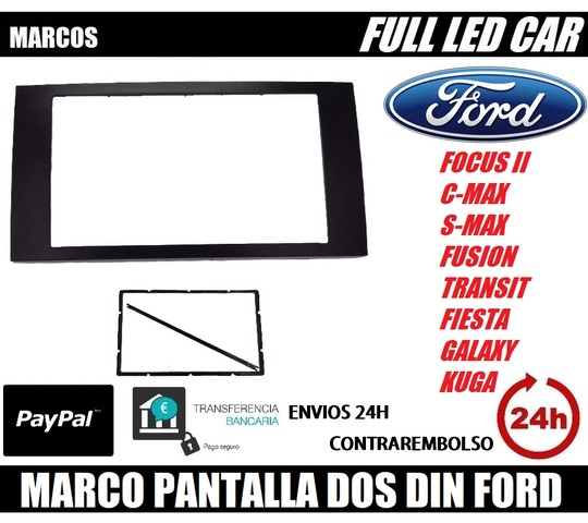 Ford Kuga C-Max S-Max radio diafragma marco adaptador ISO